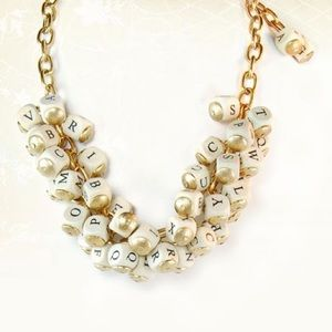 Lenora Dame Classic Alphabet Cluster Necklace